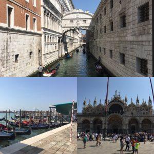 Bridge of Sighs, Gondolas' and St Mark's Basilica