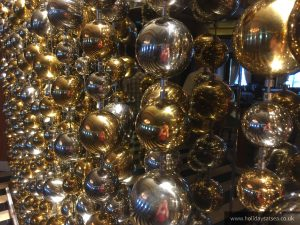 Funky baubles in the main dinning room.