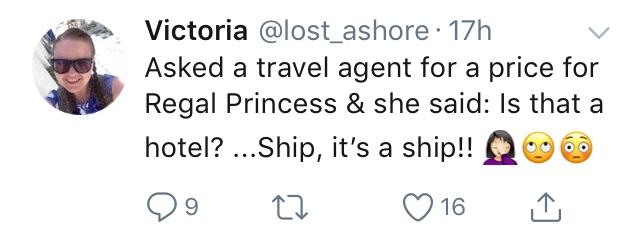 Victoria's Tweet