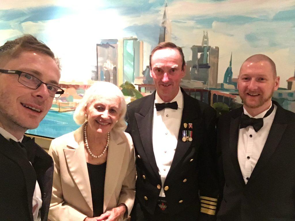 Queen Mary 2 - Captain Wells, Maureen Ryan and Gav & Luke