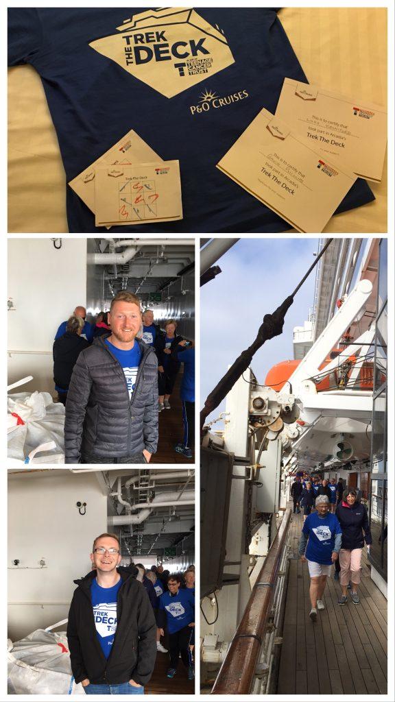 P&O Cruises Trek the Deck in aid of Teenage Cancer Trust