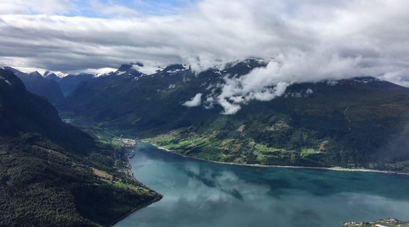 View of Olden (Norway) from the Loen Skylift